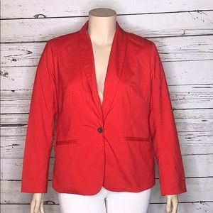 Old Navy XL Red Aloud Drapey Lined Blazer Jacket